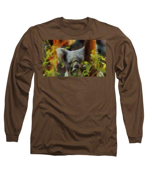 Shy Koala Long Sleeve T-Shirt by Dan Sproul