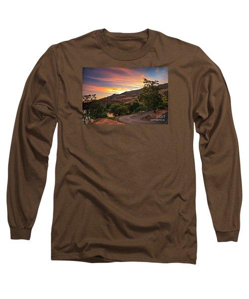 Sunrise At Woodhead Park Long Sleeve T-Shirt by Robert Bales