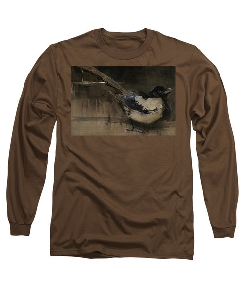The Magpie Long Sleeve T-Shirt by Joseph Crawhall