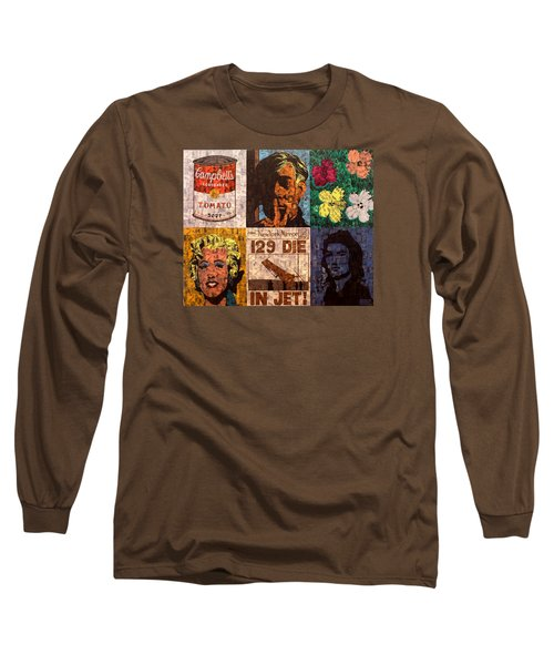 The Six Warhol's Long Sleeve T-Shirt by Brent Andrew Doty