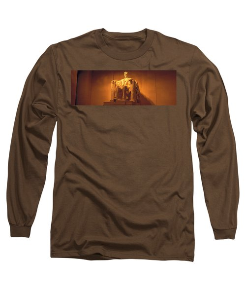 Usa, Washington Dc, Lincoln Memorial Long Sleeve T-Shirt by Panoramic Images