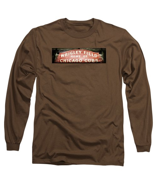 Wrigley Field Sign - No.2 Long Sleeve T-Shirt by Stephen Stookey