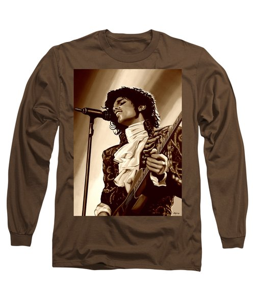 Prince The Artist Long Sleeve T-Shirt by Paul Meijering