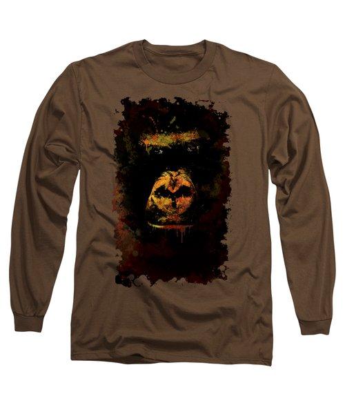Mighty Gorilla Long Sleeve T-Shirt by Jaroslaw Blaminsky