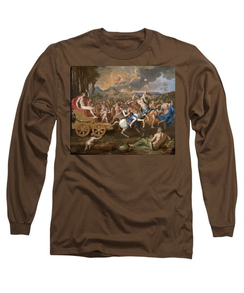 The Triumph Of Bacchus Long Sleeve T-Shirt by Nicolas Poussin