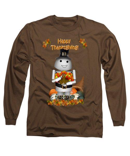 Robo-x9 The Pilgrim Long Sleeve T-Shirt by Gravityx9  Designs