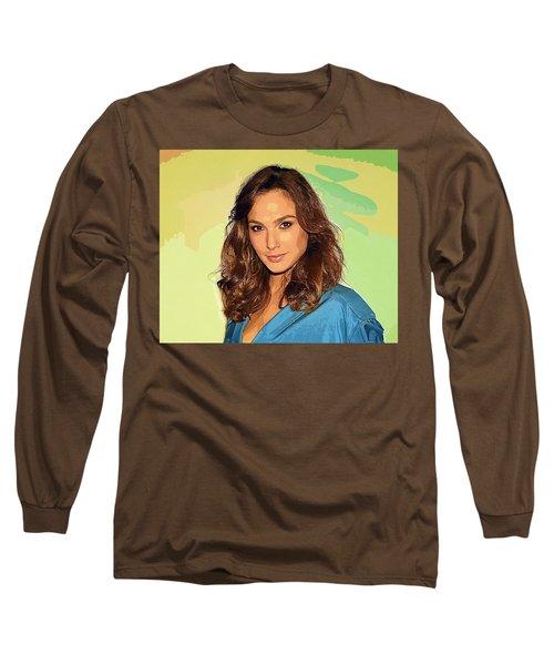 Gal Gadot Art Long Sleeve T-Shirt by Best Actors
