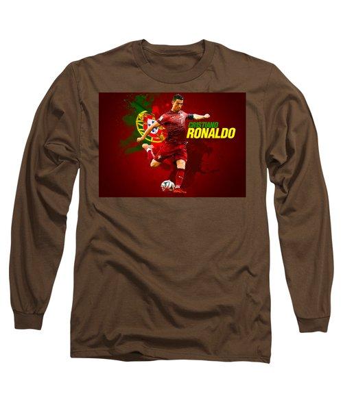 Cristiano Ronaldo Long Sleeve T-Shirt by Semih Yurdabak