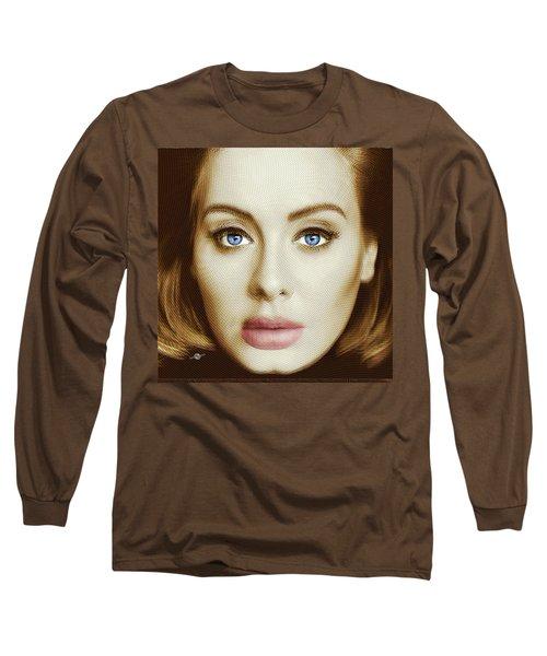 Adele Painting Circle Pattern 2 Long Sleeve T-Shirt by Tony Rubino