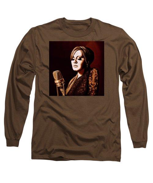 Adele Skyfall Gold Long Sleeve T-Shirt by Paul Meijering