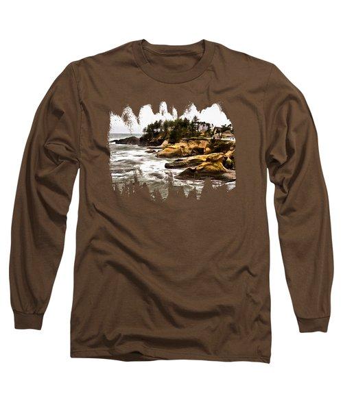 Arch Rock Depoe Bay Long Sleeve T-Shirt by Thom Zehrfeld