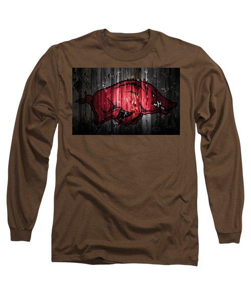 Arkansas Razorbacks 2a Long Sleeve T-Shirt by Brian Reaves
