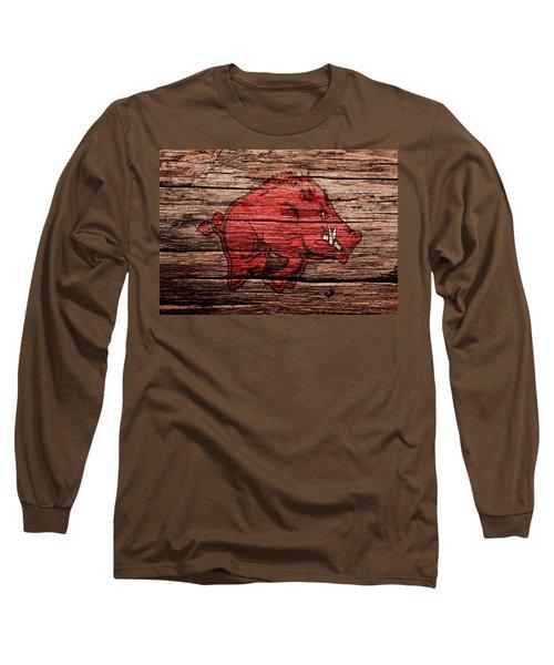 Arkansas Razorbacks Long Sleeve T-Shirt by Brian Reaves
