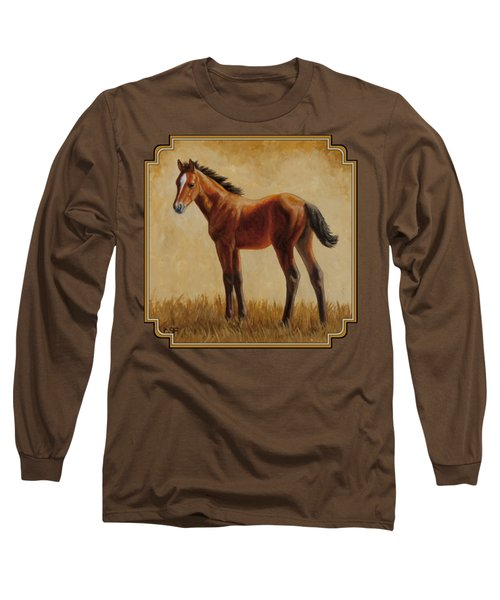 Afternoon Glow Long Sleeve T-Shirt by Crista Forest