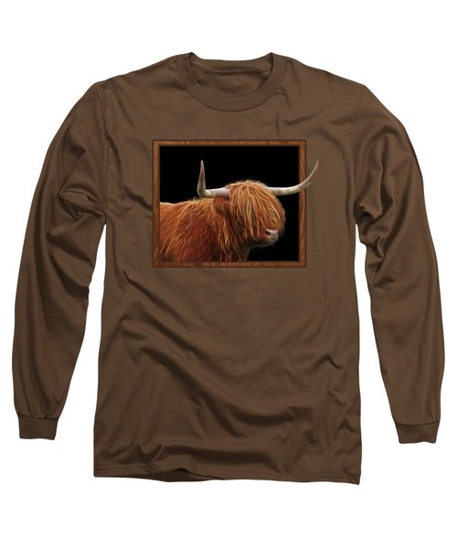 Bad Hair Day - Highland Cow Square Long Sleeve T-Shirt by Gill Billington