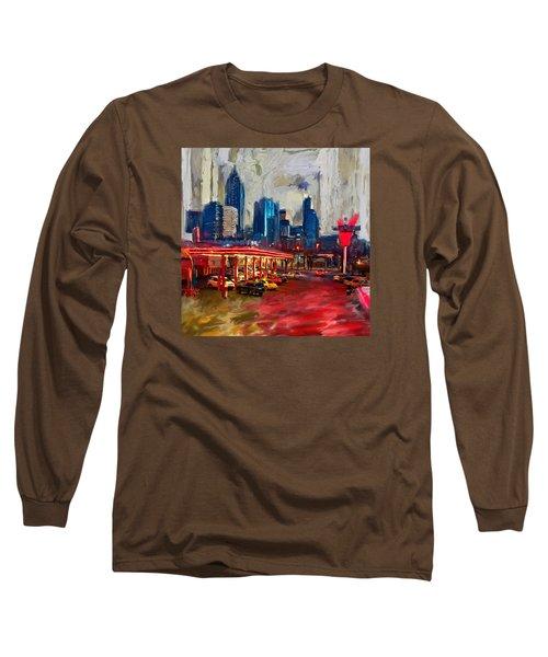 Atlanta Skyline 231 1 Long Sleeve T-Shirt by Mawra Tahreem