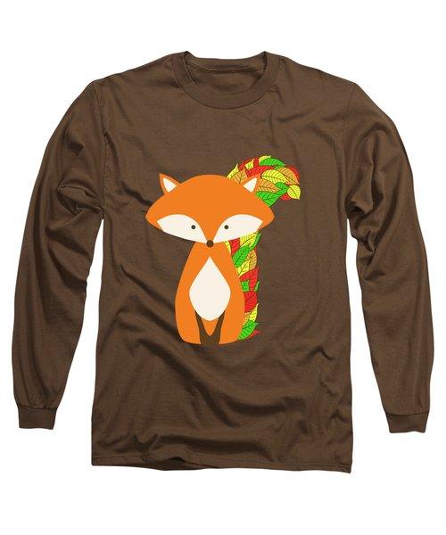 Autumn Fox Long Sleeve T-Shirt by Brigitte Carre
