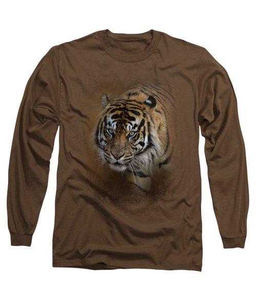 Bengal Stare Long Sleeve T-Shirt by Jai Johnson