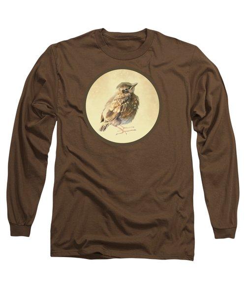 Blackbird Fledgeling Long Sleeve T-Shirt by Bamalam  Photography