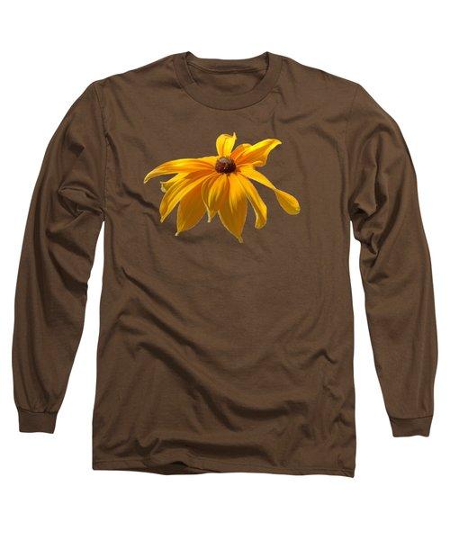 Daisy - Flower - Transparent Long Sleeve T-Shirt by Nikolyn McDonald