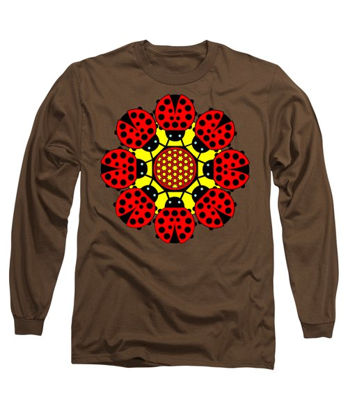 Eight Lucky Ladybirds Long Sleeve T-Shirt by John Groves