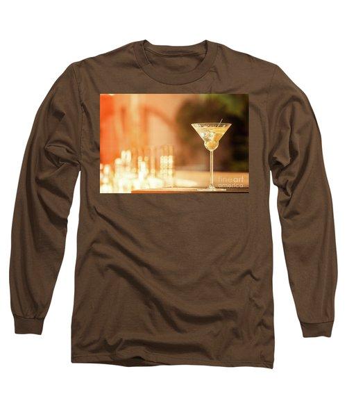 Evening With Martini Long Sleeve T-Shirt by Ekaterina Molchanova