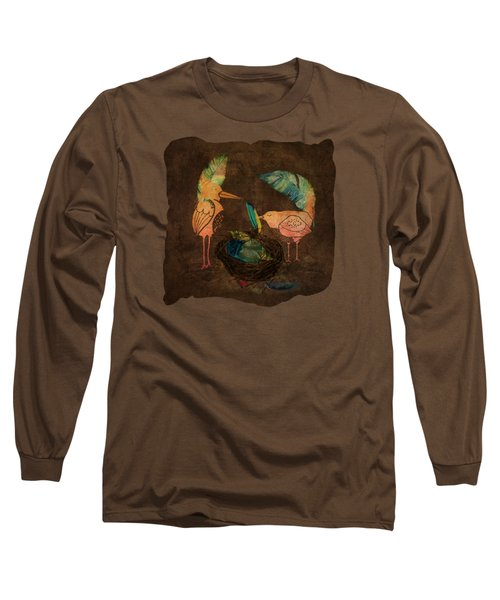 Feathering Their Nest Long Sleeve T-Shirt by Terry Fleckney