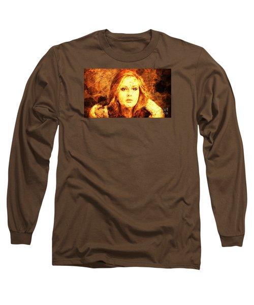 Golden Adele Long Sleeve T-Shirt by Pablo Franchi