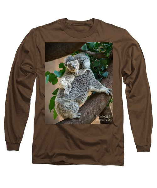 Hanging On Long Sleeve T-Shirt by Jamie Pham