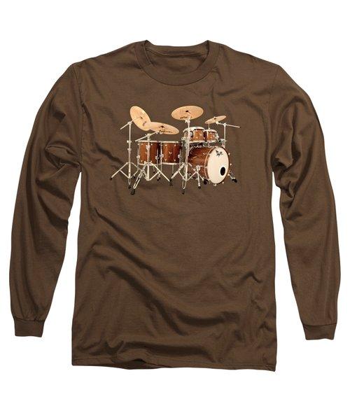 Hendrix  Drums Long Sleeve T-Shirt by Shavit Mason