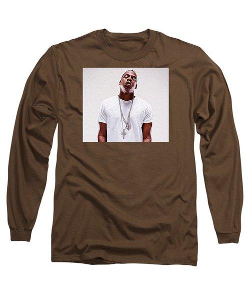 Jay-z Long Sleeve T-Shirt by Iguanna Espinosa