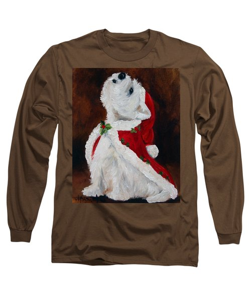 Joy To The World Long Sleeve T-Shirt by Mary Sparrow