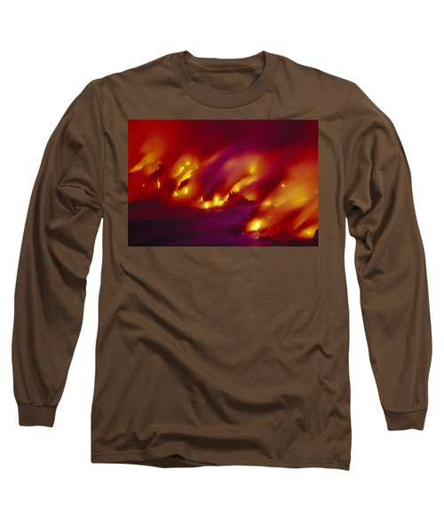 Lava Up Close Long Sleeve T-Shirt by Ron Dahlquist - Printscapes