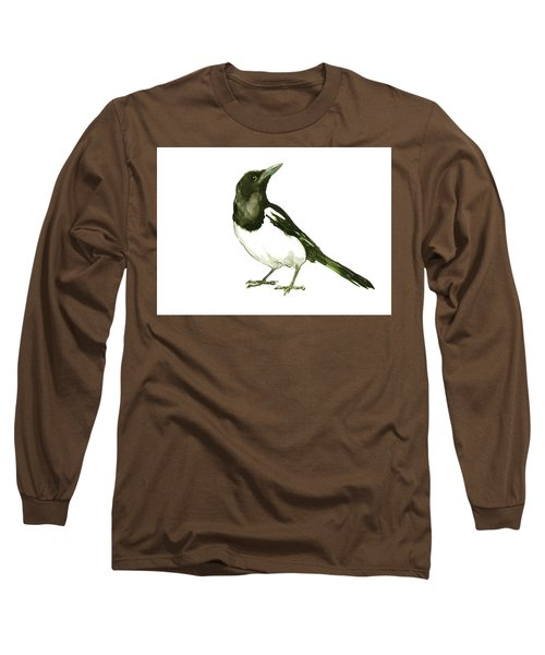 Magpie Long Sleeve T-Shirt by Suren Nersisyan