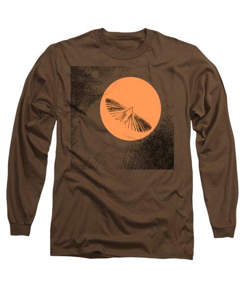Moth In Orange Long Sleeve T-Shirt by Sverre Andreas Fekjan
