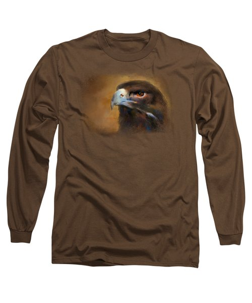 One White Feather Long Sleeve T-Shirt by Jai Johnson