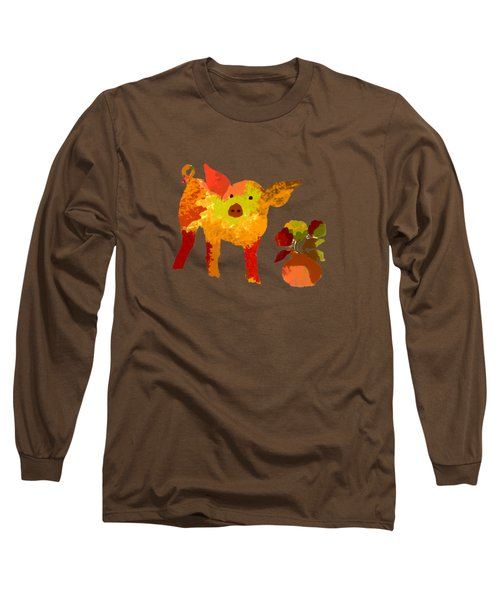 Pretty Pig Long Sleeve T-Shirt by Holly McGee