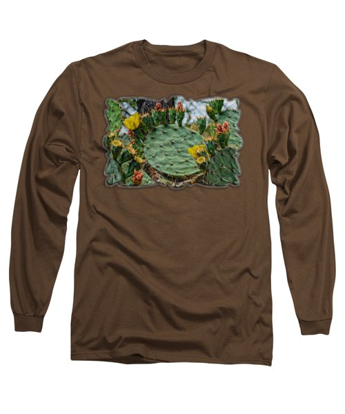 Prickly Pear Flowers Op46 Long Sleeve T-Shirt by Mark Myhaver