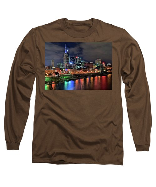 Rainbow On The River Long Sleeve T-Shirt by Frozen in Time Fine Art Photography