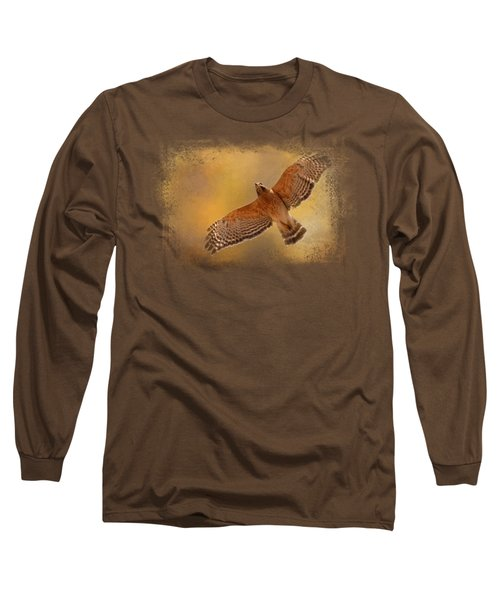 Raptor's Afternoon Flight Long Sleeve T-Shirt by Jai Johnson