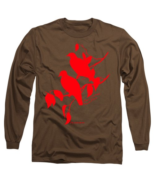 Red Doves Long Sleeve T-Shirt by The one eyed Raven