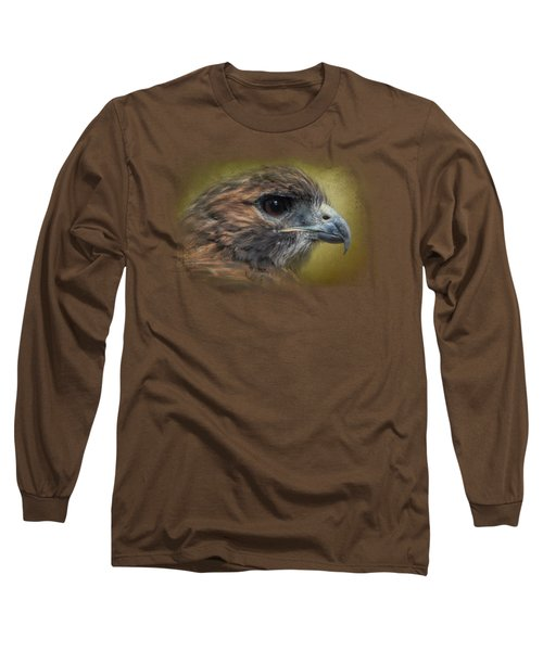 Red Tailed Hawk At Reelfoot Long Sleeve T-Shirt by Jai Johnson