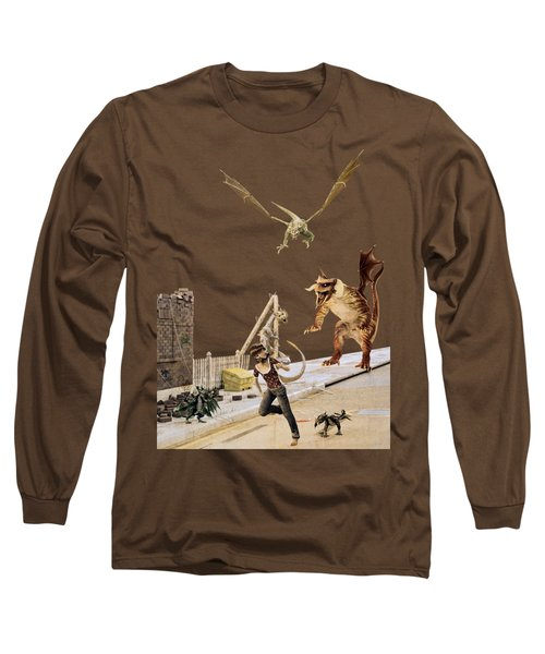 Running From My Problems Long Sleeve T-Shirt by Methune Hively