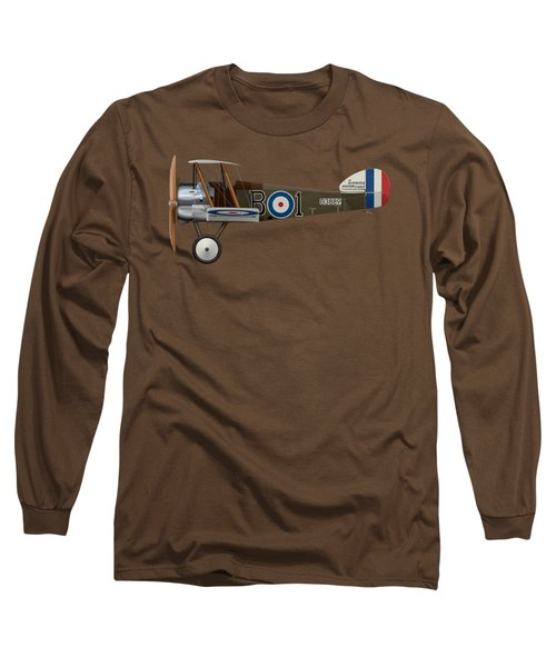 Sopwith Camel - B3889 - Side Profile View Long Sleeve T-Shirt by Ed Jackson