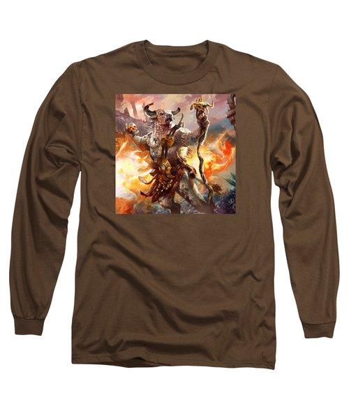 Spiritcaller Shaman Long Sleeve T-Shirt by Ryan Barger