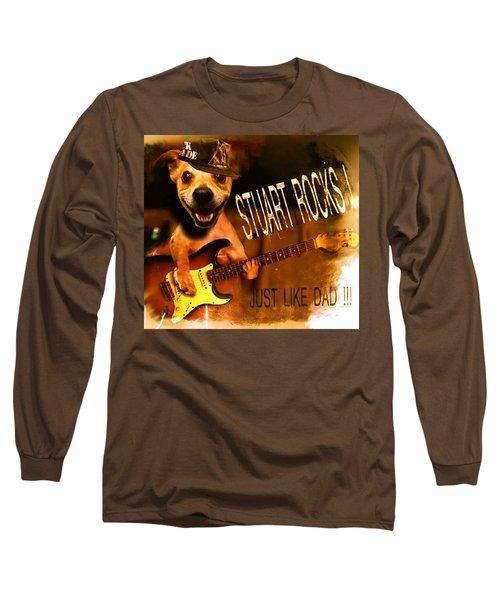 Stuart Rocks Long Sleeve T-Shirt by Luisa Gatti