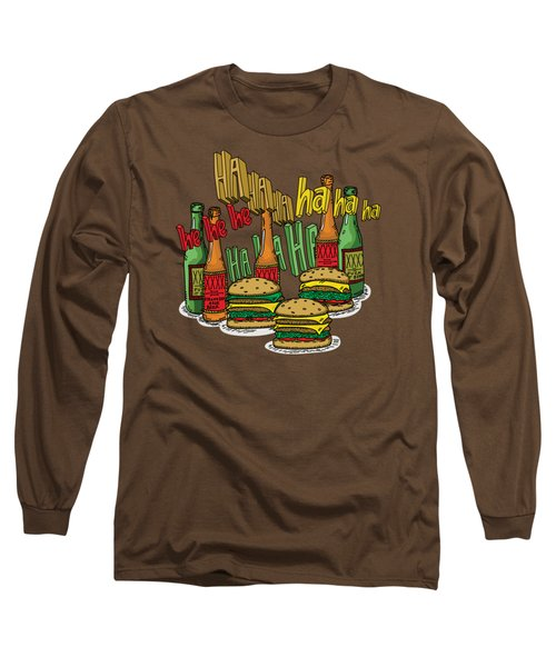 The Big Lebowski  Some Burgers Some Beers And A Few Laughs  In And Out Burger Jeff Lebowski Long Sleeve T-Shirt by Paul Telling