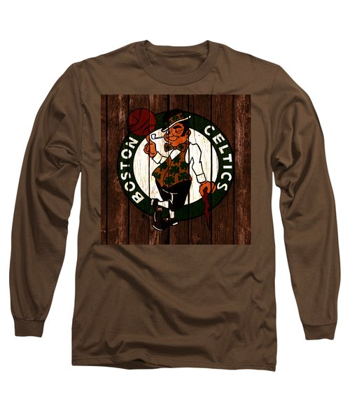 The Boston Celtics 2c Long Sleeve T-Shirt by Brian Reaves