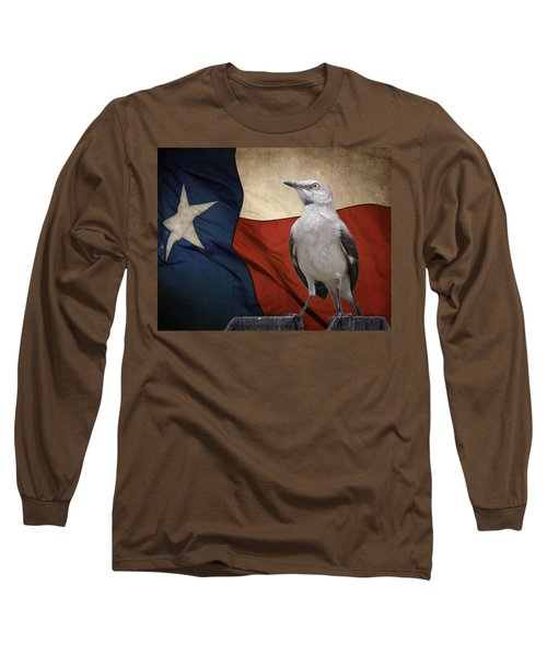 The State Bird Of Texas Long Sleeve T-Shirt by David and Carol Kelly