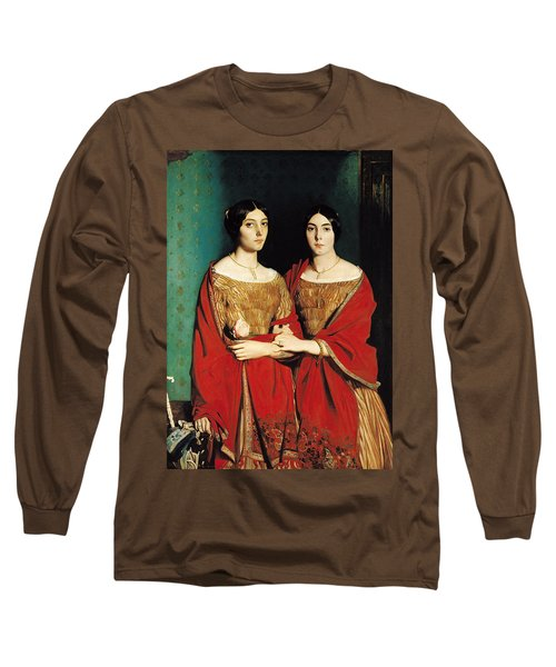 The Two Sisters Long Sleeve T-Shirt by Theodore Chasseriau